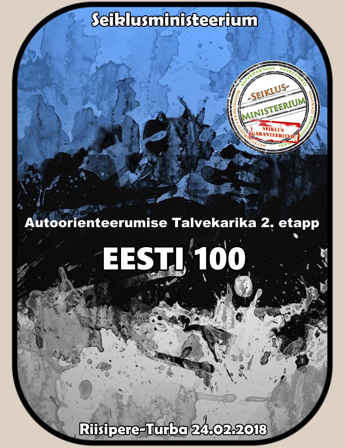 Autoorienteerumise Karikasarja 2. etapp Riisipere-Turba 24.02.18